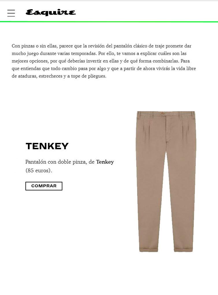 Pantalones Tenkey en Esquiere