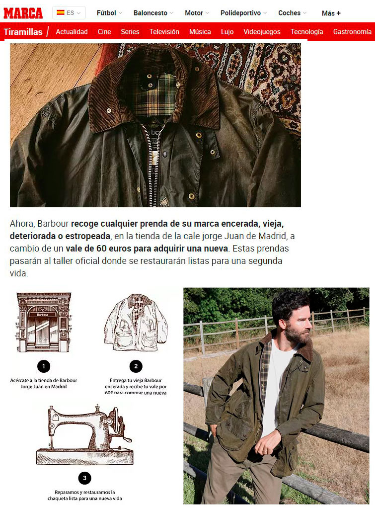 Barbour lanza RE-LOVED